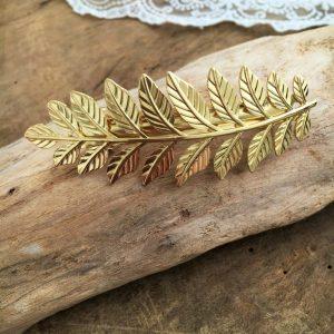 Haarclip Golden Leaf
