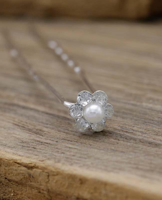 Haarpin Cristal Flower